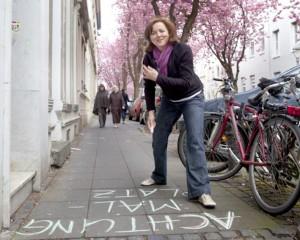 Strassenkunstaktion am Tag der offenen Tür