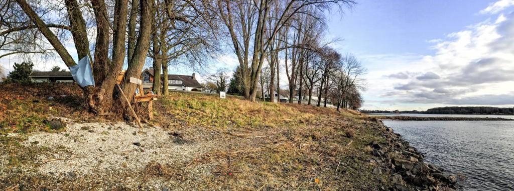 Panorama Spielplatz am Rhein